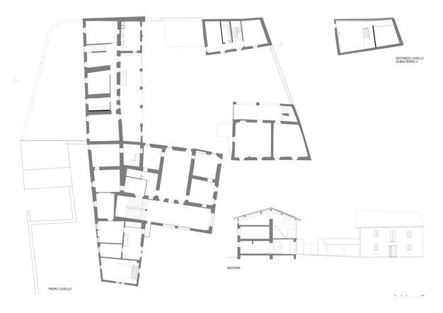 Abitazioni a corte san pietro di stabio for Piani di coperta multi livello